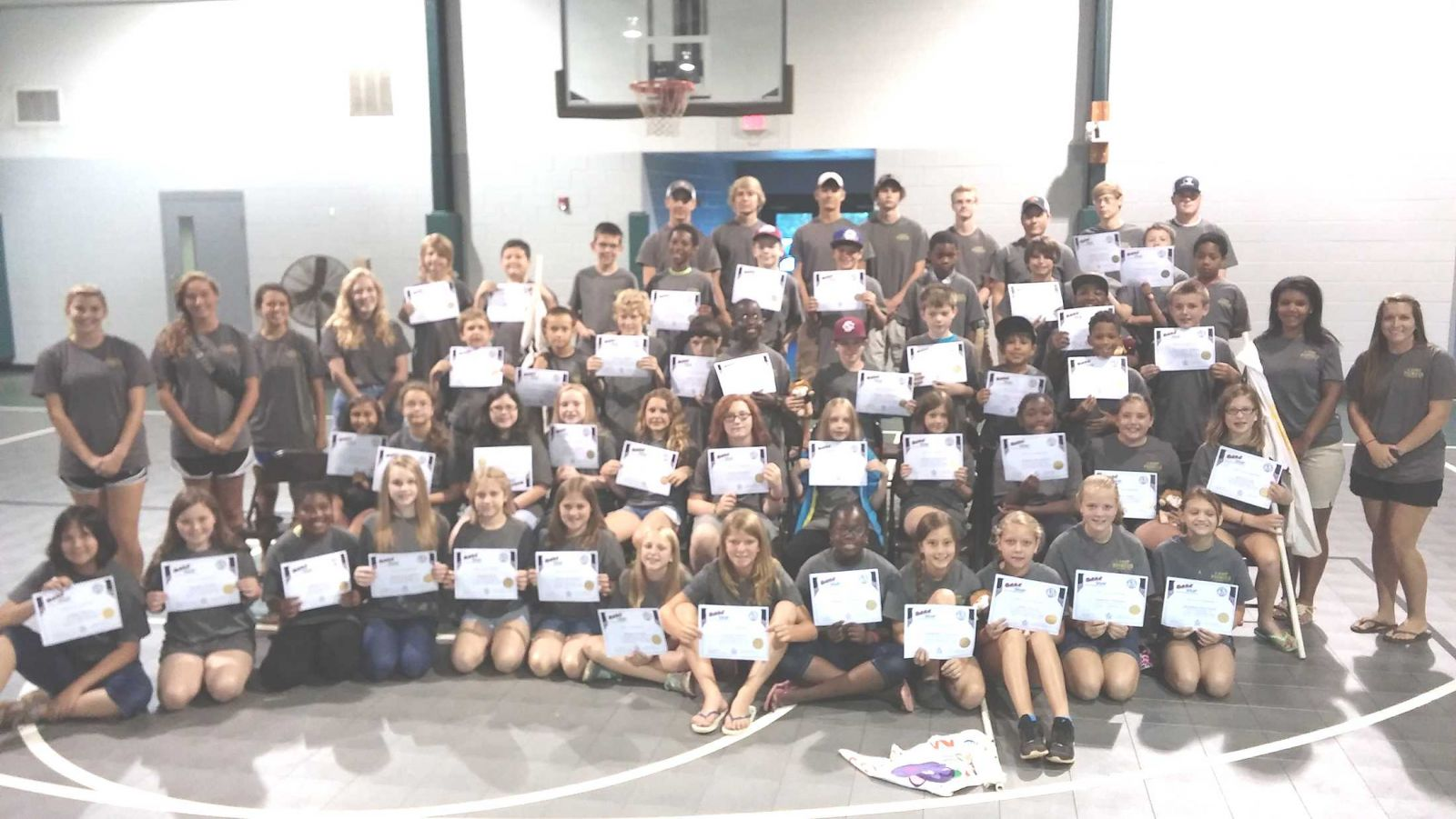 dare graduates 47 5th graders in Camp at LaGrange