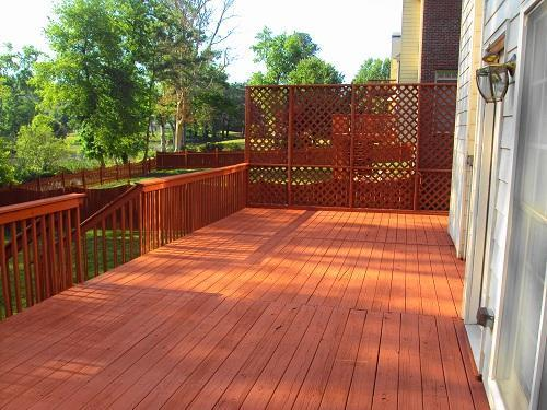 New Stained Deck