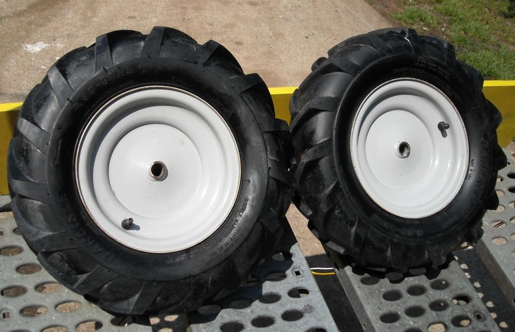 Tiller Tires And Wheels : Tiller wheels and tires for sale got the goods