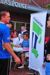 Foundation Chairman Jim Ashworth and City Councilman James Kelly check in registrants.jpg