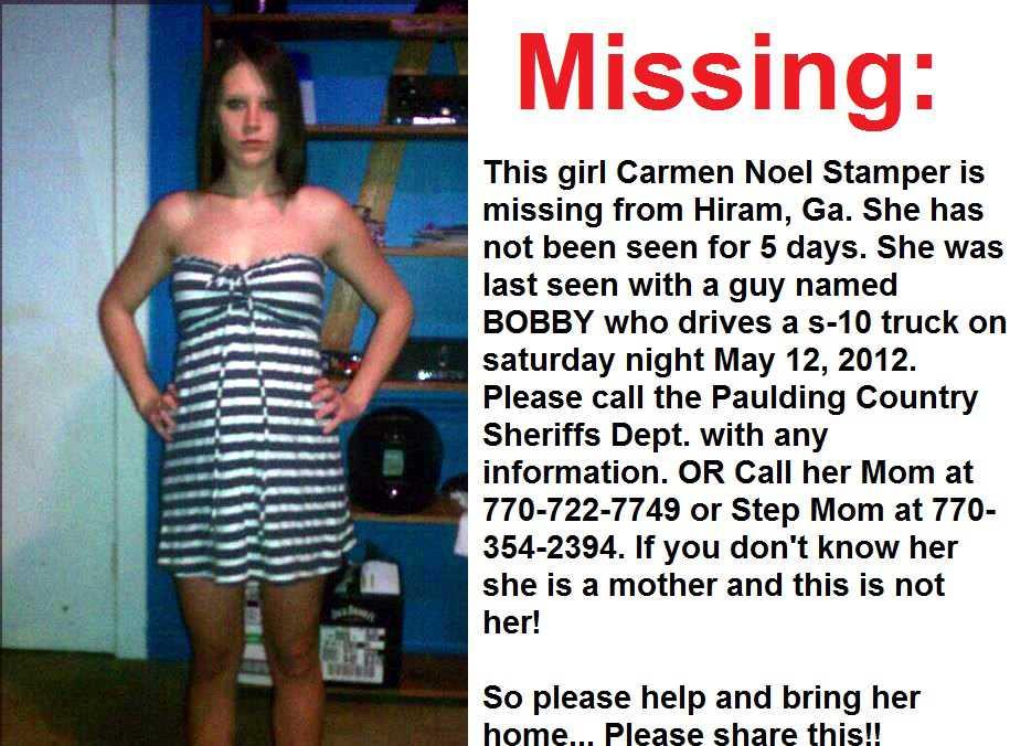 recent missing girl - 915×676