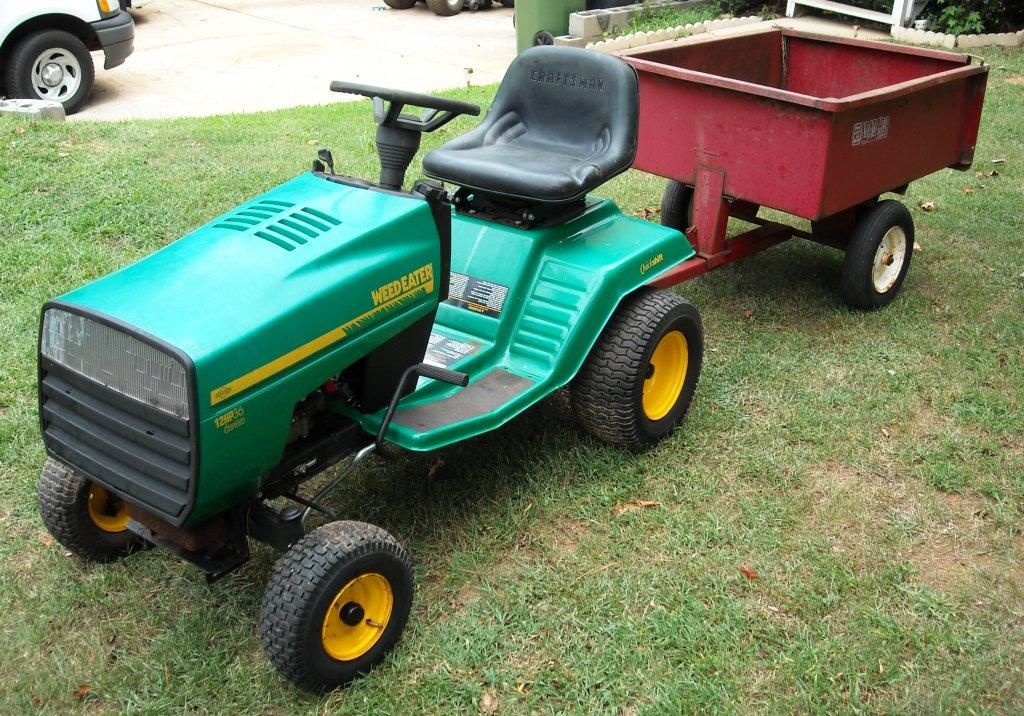 Image gallery lawn tractor trailers for Garden equipment deals