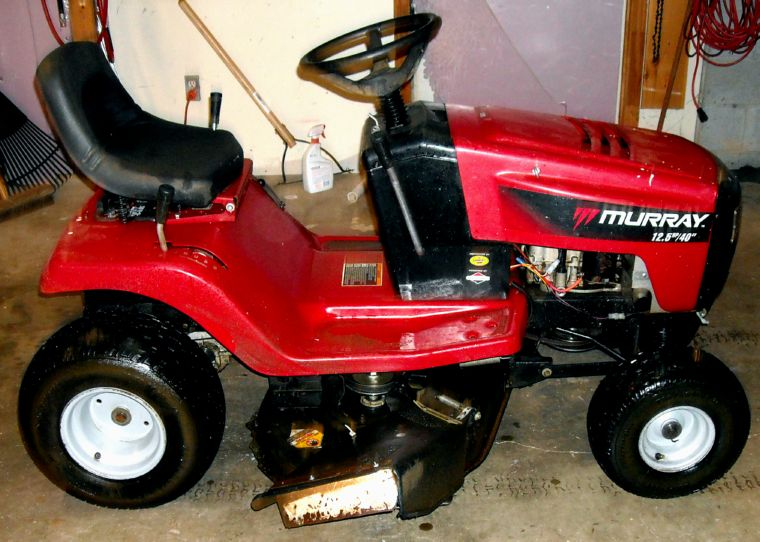 Lawn Tractor Body : Murray riding lawn mower lt wide body quot cut got the