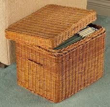 Genial Wicker File Basket