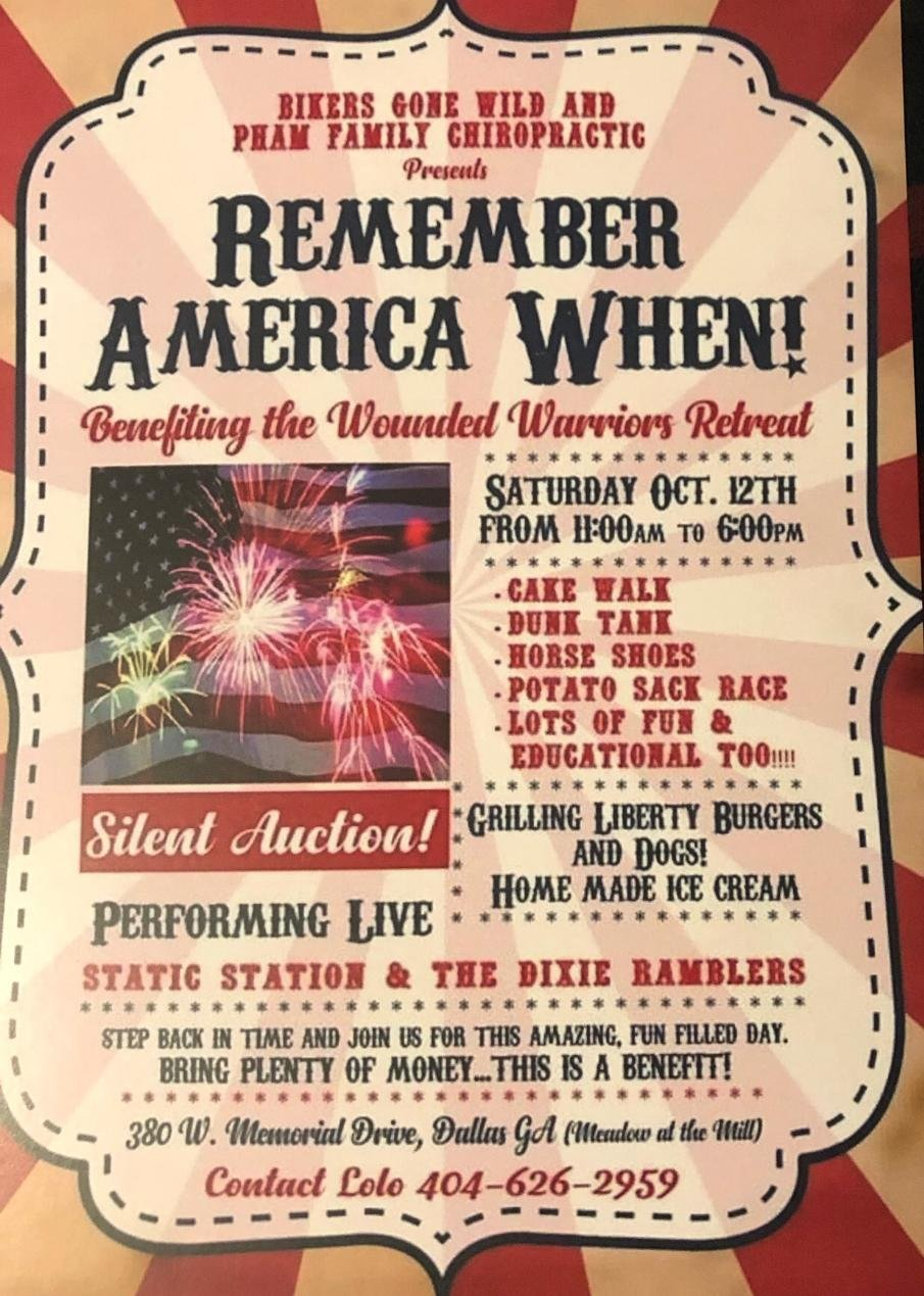 Remember AMERICA When! Benefiting the Wounded Warriors Retreat
