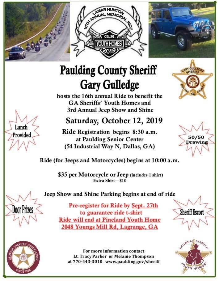 Lamar Hunton 16th Annual Memorial Ride