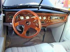 Cool interior of a car at Dallas Classic Rides show in 2000