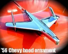 56 Chevy hood ornament