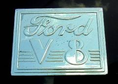 Classic Ford V-8 Badge
