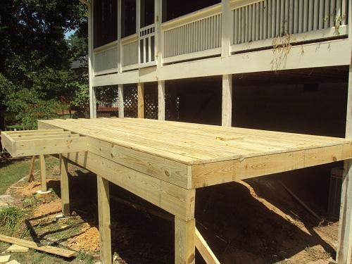 2nd Day of Deck Build