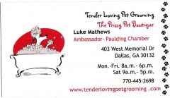 Tender Loving Pet Grooming & The Prissy Pet Boutique