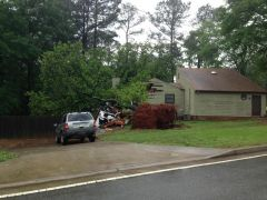 house damaged in storm