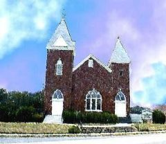 Artistic image of old Dallas First Baptist Church