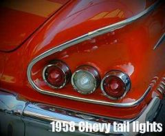 1958 Chevy Tail Lights